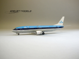 """Boeing 737-400 KLM Royal Dutch Airlines """"The world is just a click away title"""" PH-BDS model samolotu w skali 1:200"""