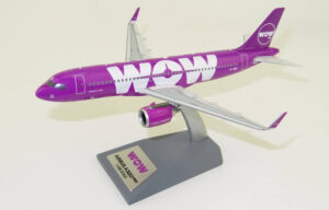 Airbus A320 neo WOW Airlines TF-NEO model samolotu 1:200