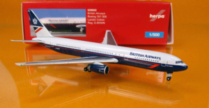 Boeing 767-300 British Airways Landor w skali 1:500 Herpa 529822