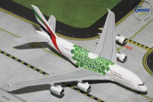 A380-800 Emirates (Green Expo2020) GJUAE1788 w skali 1:400
