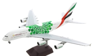 "Airbus A380-800 Emirates ""Green Expo 2020"" w skali 1:200 G2UAE774"