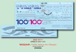 Airbus A321 (Wizzair' 100th Airbus special Livery) w skali 1:144