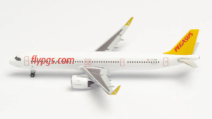 Airbus A321neo Pegasus Airlines w skali 1:500 Herpa 534161