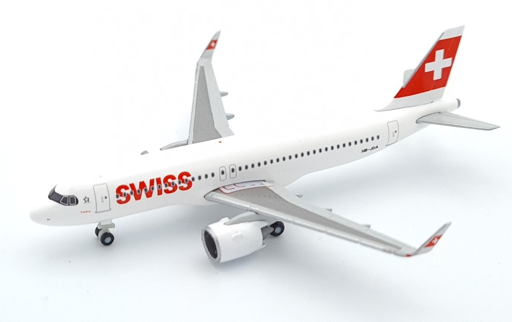 Airbus A320neo Swiss Airlines model 1:500 Herpa 534413