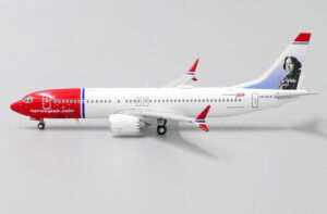 Boeing 737 MAX 8 Norwegian Oscar Wilde model w skali 1:400