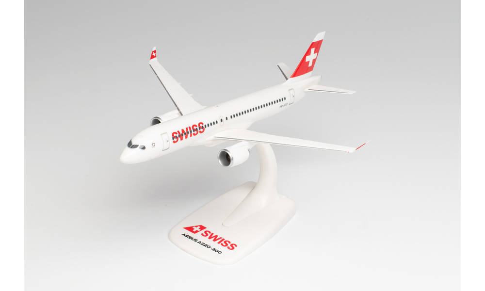 Airbus A220-300 Swiss Airlines 1:200 Herpa 613323